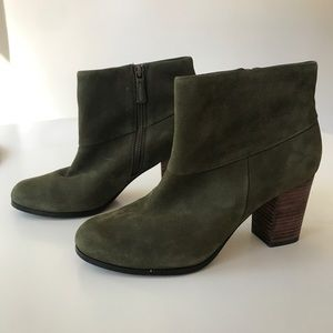 Cole Haan Green Leather Booties